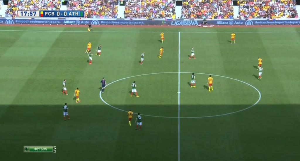 Barcelona's wide central midfielders + Messi situationally dropping deeper in their 2-6-2 graduation.