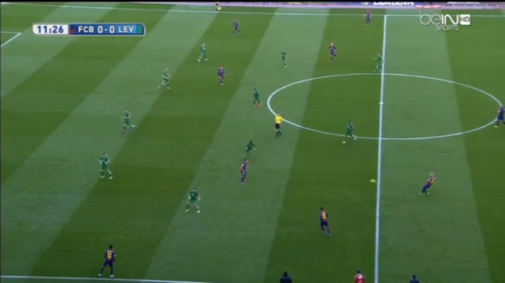 The general positional structure of both teams.