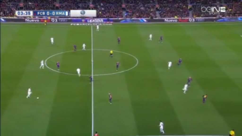 The usual offensive strategy from Real Madrid.