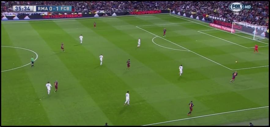 Madrid's 4-1-3-2 press