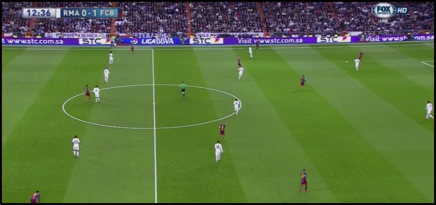 Barcelona's use of some positional play features helped them break through Madrid's press.
