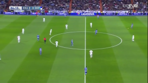 Madrid's situational 4-3-2-1 covering important zones but lack of proper dynamics