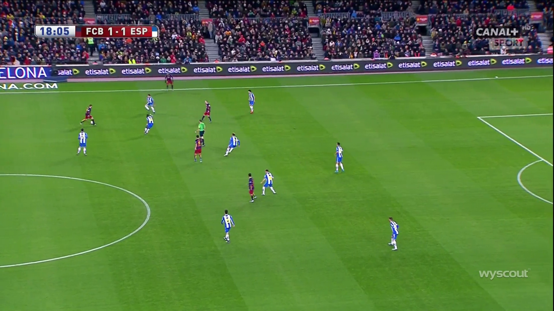 Iniesta was easily found between the lines.