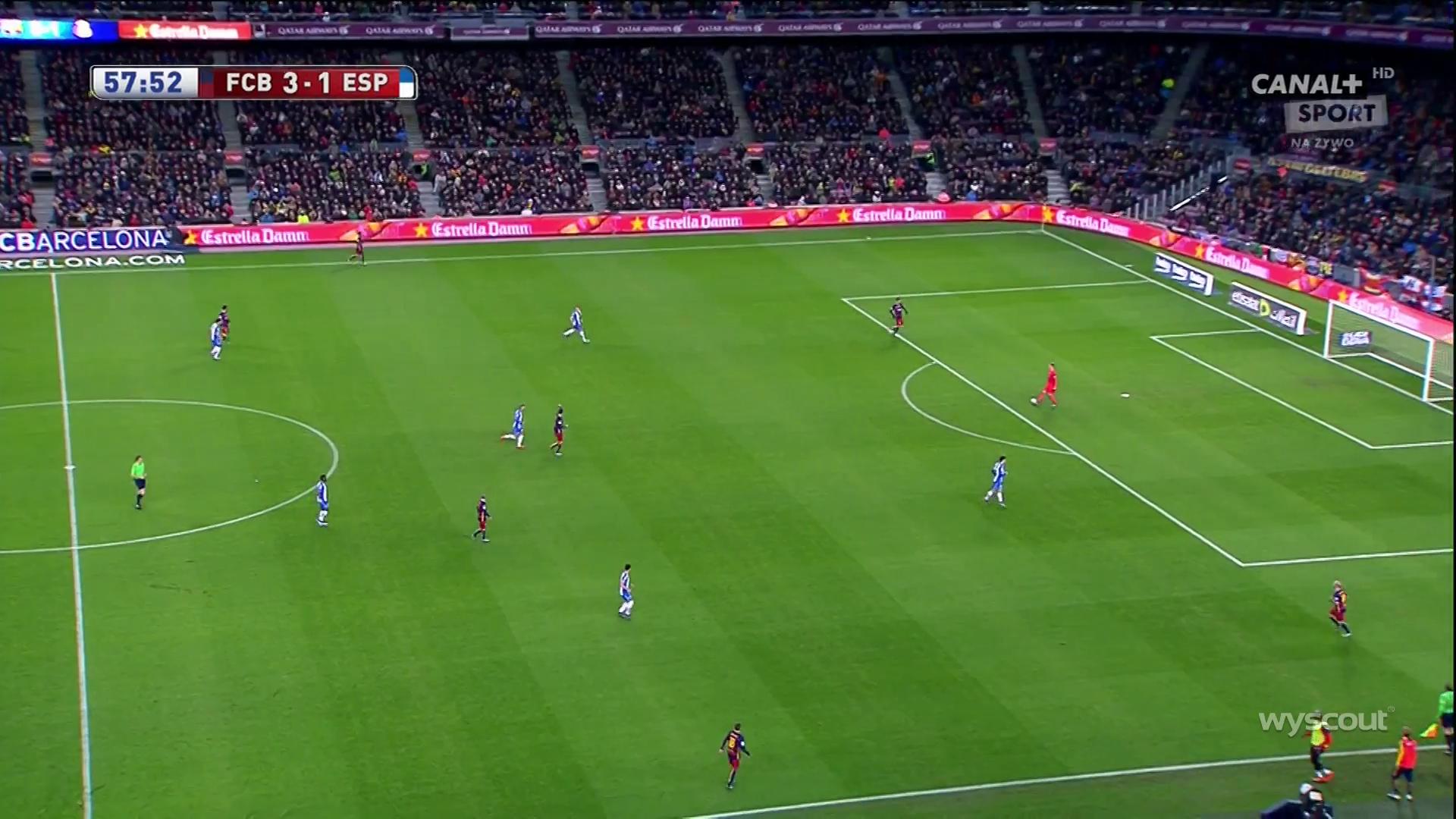 Espanyol's man-marking.