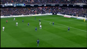 Bale stayed high on the left wing after CR7 switched with him, but Ronaldo didn't move back to defend either