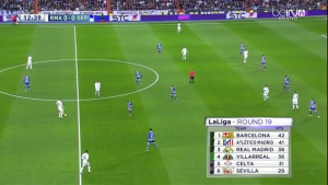 Marcelo and Carvajal pushed up while Modric and Kroos are alone in the center
