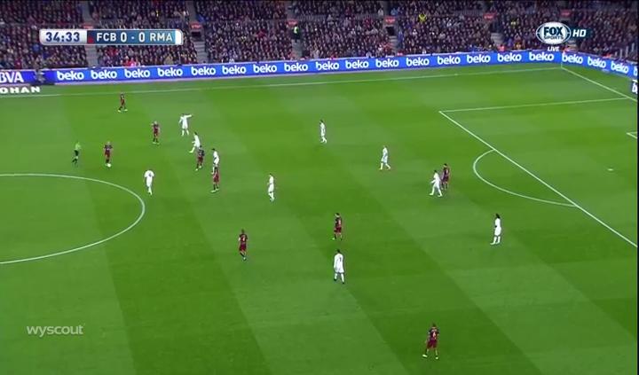 Barcelona's weak spacing.