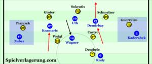 Hoffenheim regularly threatened with runs into depth.